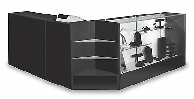 Combo Cashier  POS Showcase, Counter, Register Stand Black Knockdown New