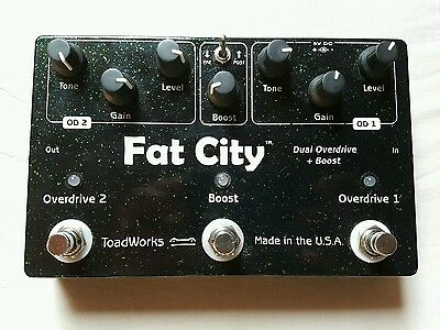Toadworks Fat City Dual overdrive + Boost USA