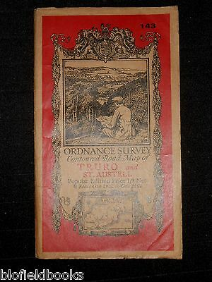 Vintage Ordnance Survey Road Map of Barmouth 1910 S W Wales, Welsh, Edwardian