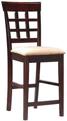 """Wheat Back Cappuccino 24"""" High Counter Stool Chair by Coaster 100209  - Set of 2"""