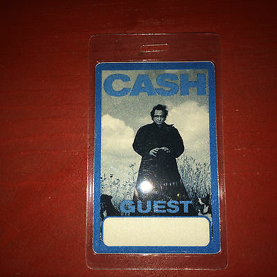 1990's Laminated Johnny Cash Concert Backstage Guest Pass