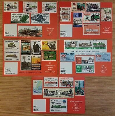 Set of 5 Post Office Postcards AGE OF STEAM Letter Stamps Preserved Railways #26