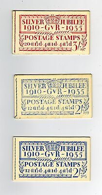 Gb 1935 Gv Selection Of Jubilee Booklets With 1 Stamp Only In Each Spacefillers