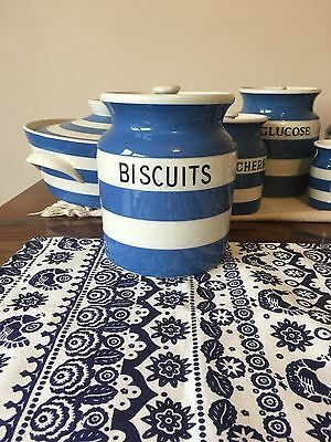 T G Green Cornishware Biscuits Jar Early Church Very Rare