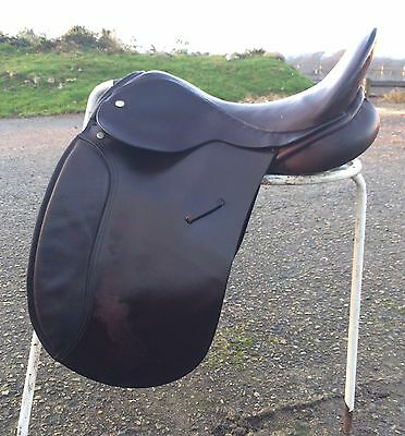 """17"""" Brown English Leather Victoriann Wide For Show Saddle"""