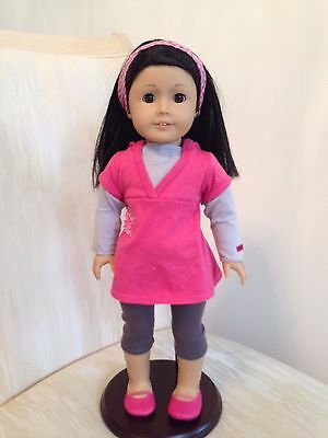 American Girl Just Like You - Doll +Ears Pierced +Earrings +Extra Outfit