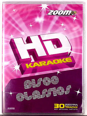 Zoom HD DVD Karaoke - Disco Classics - 30 Songs New/Sealed DVD+G