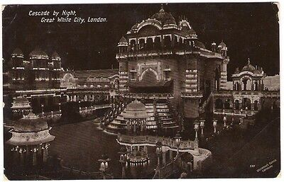 Cascade by Night Great White City, London 1912