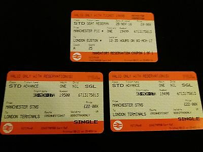 2 x  Manchester to Euston  Fri 3rd March 12.35pm Res Seats