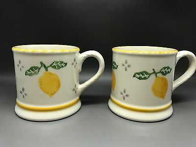 A Pair Of Laura Ashley Summer Fruits Mugs