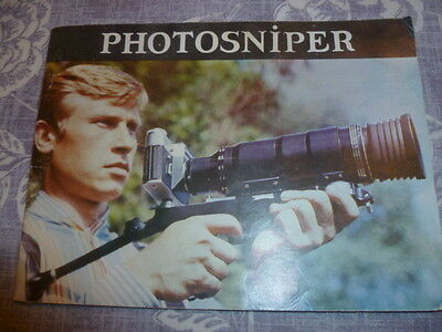 "Instructions For Vintage ""photosniper"" Camera"