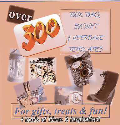 Over 300 templates for Boxes, Bags, Baskets & Keepsakes CD