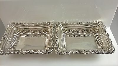 good pair of Edwardian solid silver pin dishes Hallmark Chester 1902