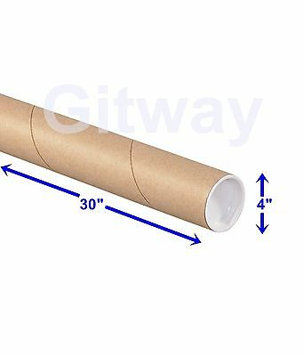 "4"" x 30"" Cardboard Poster Shipping Mailing Mail Packing Postal Tube 15 Box Tubes"