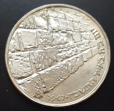 """Israel 10 Lirot Silver Coin 1967 Brilliant Uncirculated Condition""""Wailing Wall"""""""