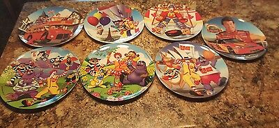 Lot Of 7 McDonald's Collectible Plastic Plates Year 2000