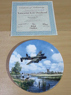 Royal Doulton Heroes Of The Sky Boxed Plate - Lancaster Low Overhead 2806A
