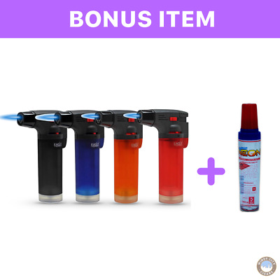 4 Pack Eagle Jet Torch Gun Butane Lighter Refillable Windproof+ FREE Butane