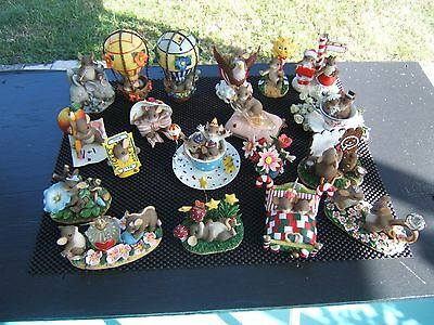 Lot Of 19 Fitz & Floyd Charming Tails Mice Figurines No Issues