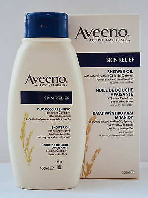 Aveeno Skin Relief Shower Oil 400ml Colloidal Oatmeal for Dry & Sensitive Skin