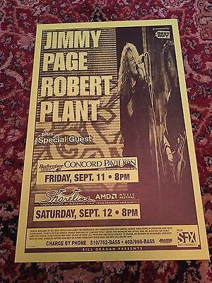Jimmy Page Robert Plant 1998 Show Poster Original Led Zeppelin