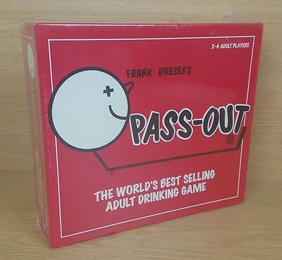 Frank Bresee's PASS OUT - ADULT Party Drinking BOARD GAME Passout new Sealed