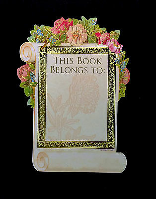 Exlibris Bookplate Book Plate Label This Book Belongs To~Punch Studio~Roses
