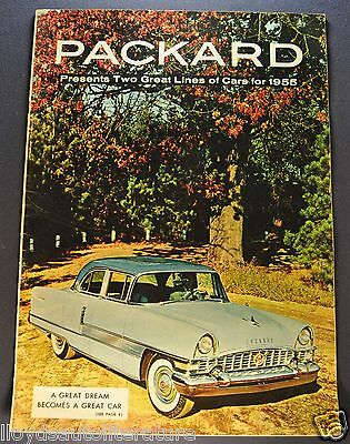 1955 Packard Sales Brochure Patrician 400 Caribbean Clipper Constellation Panama