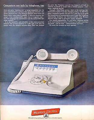 Western Electric Telephone Data Phone Ad 1960s Computer Phone Bell System Origin