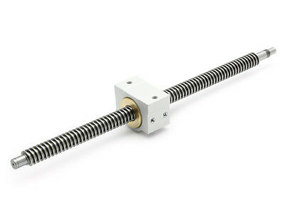 SET: TR Spindle 16x4 right ready to install 1252mm & Bronze nut, EMS 1620B-L1200