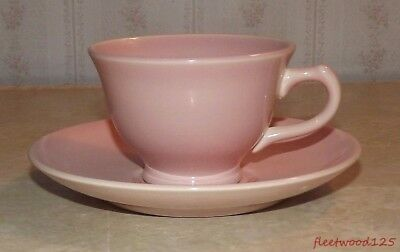 Taylor Smith & Taylor TST Luray Pastel Pink Coffee Tea Cup and Saucer