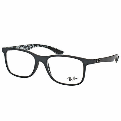 New Ray-Ban RX 8903 5263 Matte Black Plastic Square Eyeglasses 55mm
