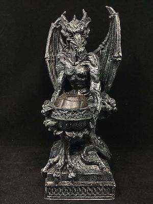 """12"""" Tall Collectible Gargoyle Mythical Creature Candle Holder"""