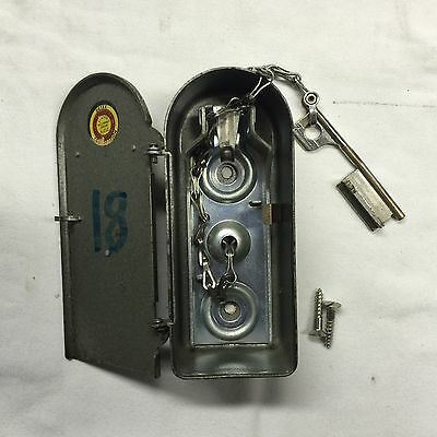 Vintage DETEX Watchman's Station #2 - Complete with Key - VG+ Vintage Condition