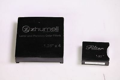 Lot of 2 Zhumell Filters Lunar and Planetary Color Filters Urban Sky