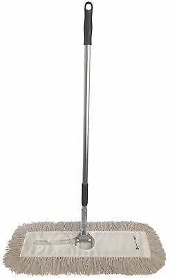 "Dust Mop Kit-18"" White Industrial Closed Loop Dust Mop, Wire Frame & Handle"