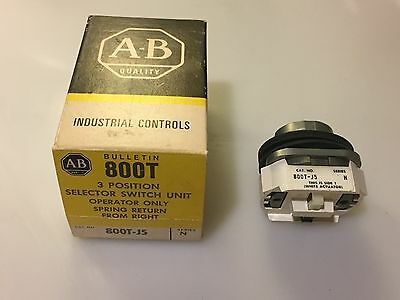 Allen-Bradley 800T-J5 Selector Switch 3-Position Spring Return Operator Only