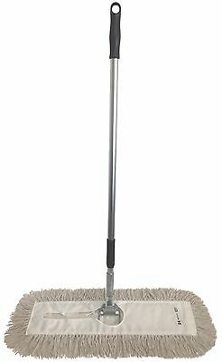 "Dust Mop Kit-24"" White Industrial Closed-Loop Dust Mop, Wire Frame & Handle"