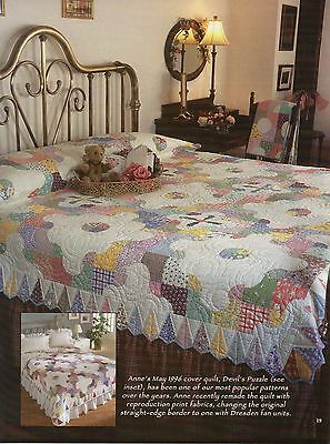 """Pretty Puzzle   Finished  Size - 91""""x91""""     Quilt   Pattern Only"""