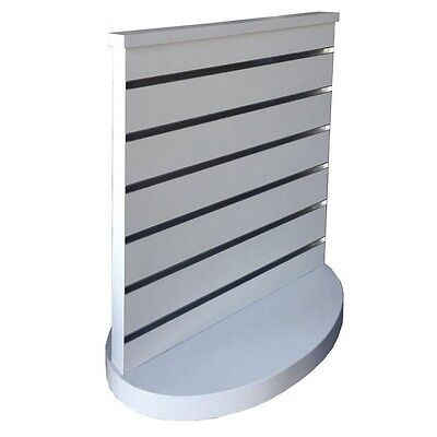 Countertop 2 way Slat Panel Spinner Slatwall Display Gondola White