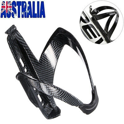 Black Carbon Fiber Water Bottle Holder Cage for Bicycle Cycling MTB Road Bike