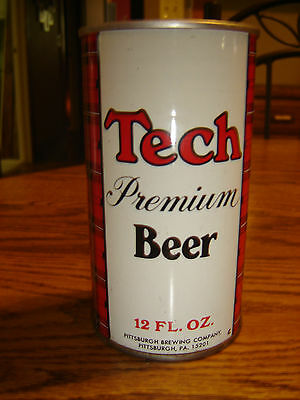 Tech Premium Pittsburgh Brewing Company B/O Empty Straight Steel Beer Can