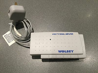 Wolsey Traix 4 Way Aerial TV Booster Distribution Amplifier