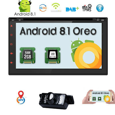 HD 7Inch Touch Screen Android Quad-Core Double Din In-Dash Car Stereo DVD Player