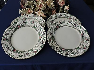 Antique BOOTHS (Set of 4) Silicon SPRINGTIME China Dinner Plates