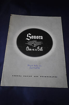 Ca 1946 Sonora Clear as a Bell Radios and Phonographs Sales Brochure