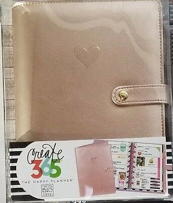 Create 365 The Mini Happy Planner Deluxe Cover (Rose Gold) & Accessories Lot New