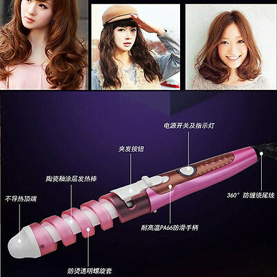 BaByliss Pro Conical Ceramic Iron Hair Curling Wand Salon Curlers Tong Styler