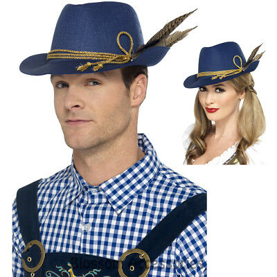 09e2751536d A891 Unisex Authentic Bavarian Beer Oktoberfest Mini Costume Hat with  Feathers