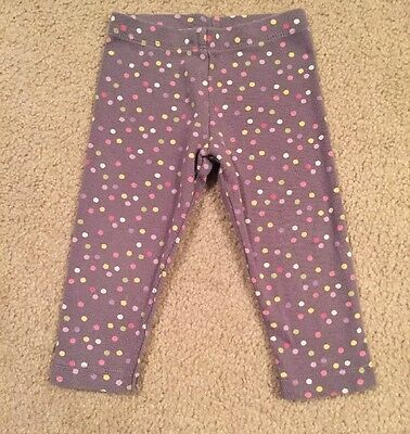 Gymboree 12-18 Month Grey Polka Dot Pants Leggings Baby Girl